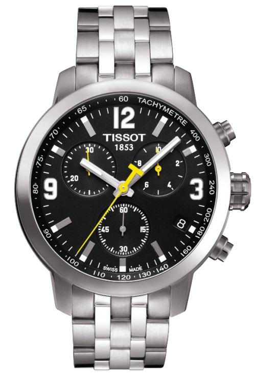 Pánske hodinky TISSOT T055.417.11.057.00 PRC 200 QUARTZ CHRONO + Darček na  výber ... 95f91715b0