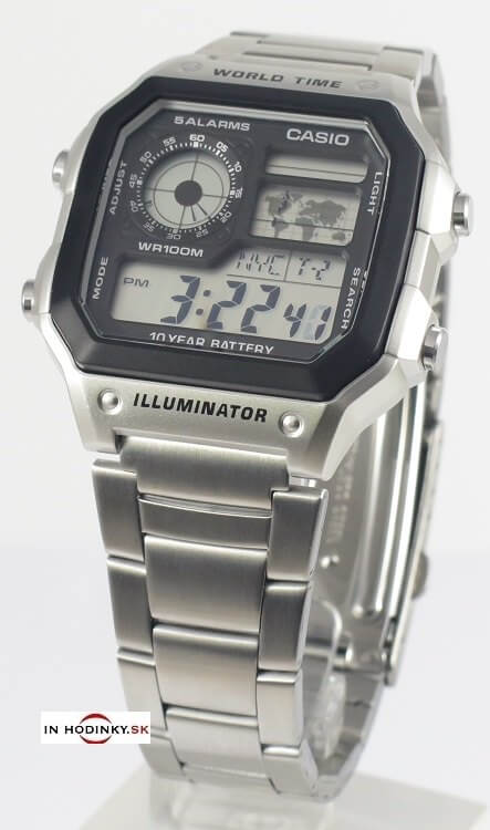 Pánske hodinky CASIO Collection AE 1200WHD-1A + darček 3a71b16e18b