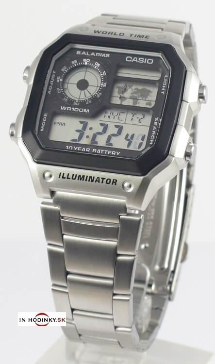 Pánske hodinky CASIO Collection AE 1200WHD-1A + darček a573160aa9d