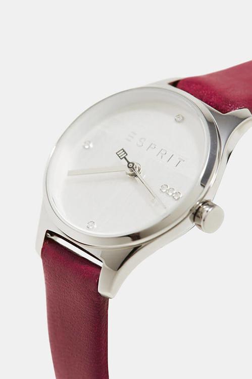 Dámske hodinky ESPRIT ES1L054L0025 Essential Glam Silver Red be4521b0f76