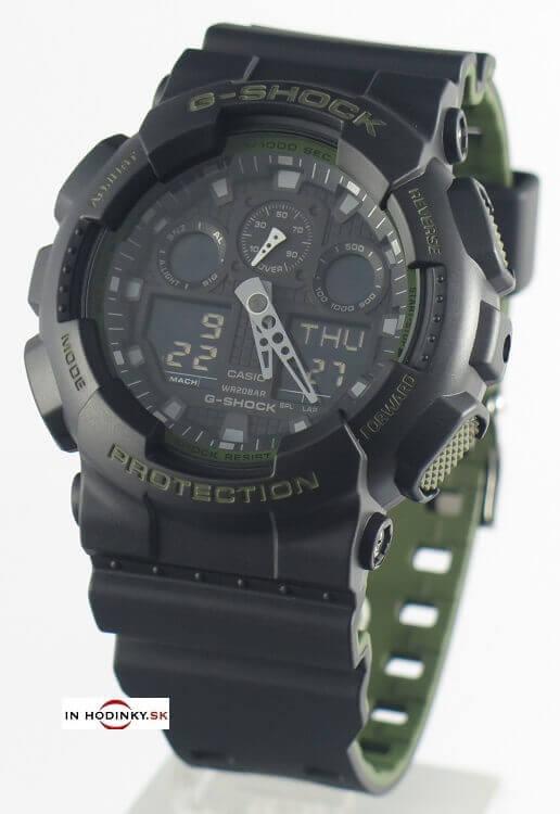 Športové hodinky CASIO GA 100L-1A G-Shock + darček 1ef0d8ff11f