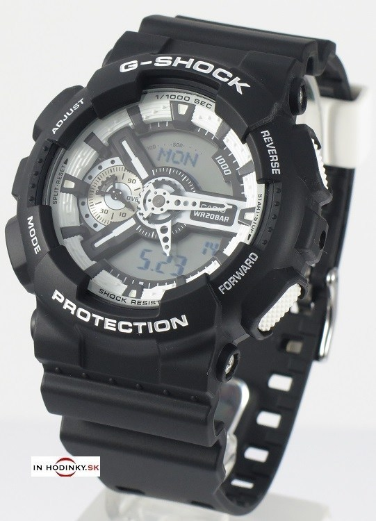 CASIO GA 110BW-1A G-Shock + Darček na výber c1766765d92
