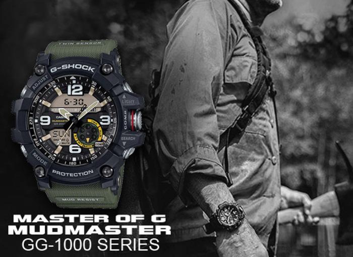Športové hodinky CASIO GG 1000-1A3 G-Shock MUDMASTER Series + Darček na  výber a3c0e6f0c884