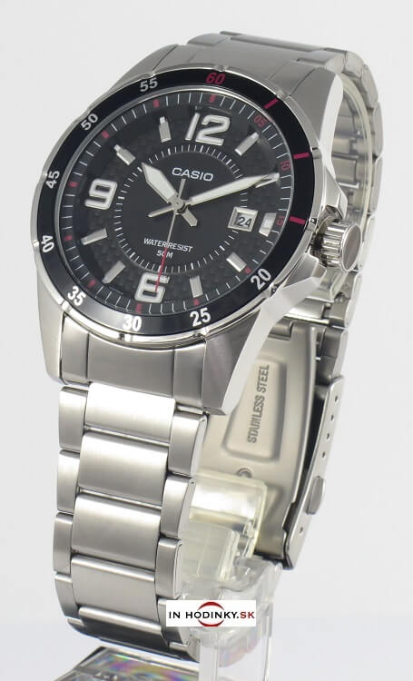 Pánske hodinky CASIO MTP 1291D-1A1 + darček 400245b99b5