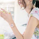 Dámske hodinky CASIO SHE-3046PG-4AUER SHEEN Swarovski® Crystals