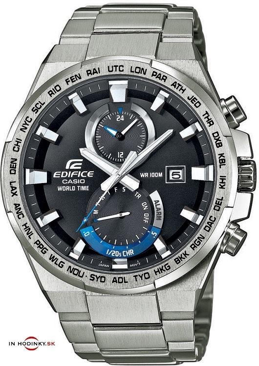 Pánske hodinky CASIO EDIFICE EFR 542D-1A s časovými pásmami a ... 280f841e500