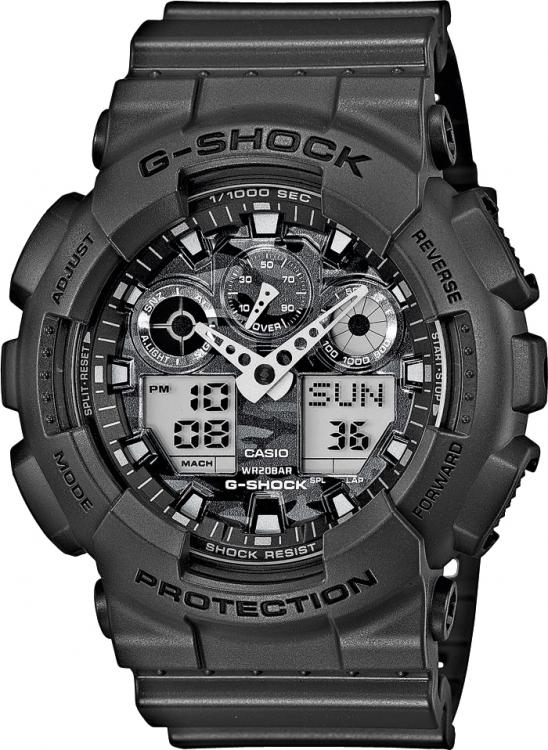 Pánske športové hodinky CASIO GA 100CF-8A G-Shock Camouflage Series +  darček zväčšiť obrázok 2fce4f0934