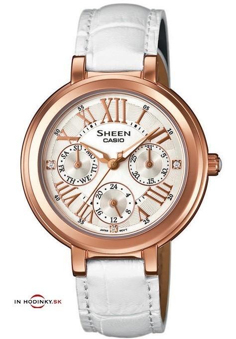 Dámske hodinky CASIO SHE 3034GL-7A SHEEN + Darček na výber zväčšiť obrázok 2d34d0877fb