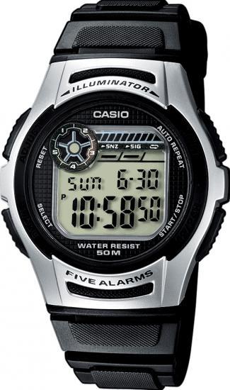 Digitálne hodinky CASIO W 213-1A + darček 45766ed5c1a