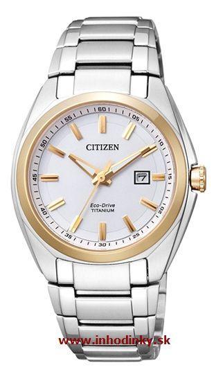 Dámske hodinky CITIZEN EW2214-52A ECO DRIVE Lady, Titanium + darček na výber