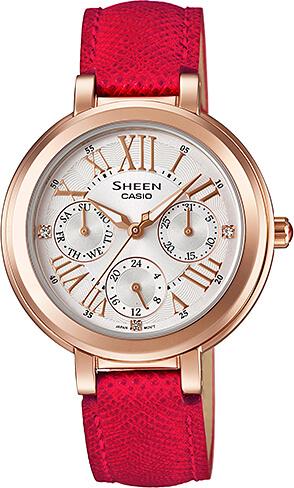 Dámske hodinky CASIO SHE 3034GL-7B SHEEN Swarovski® Crystals + Darček  zväčšiť obrázok 38ec4b8d4b