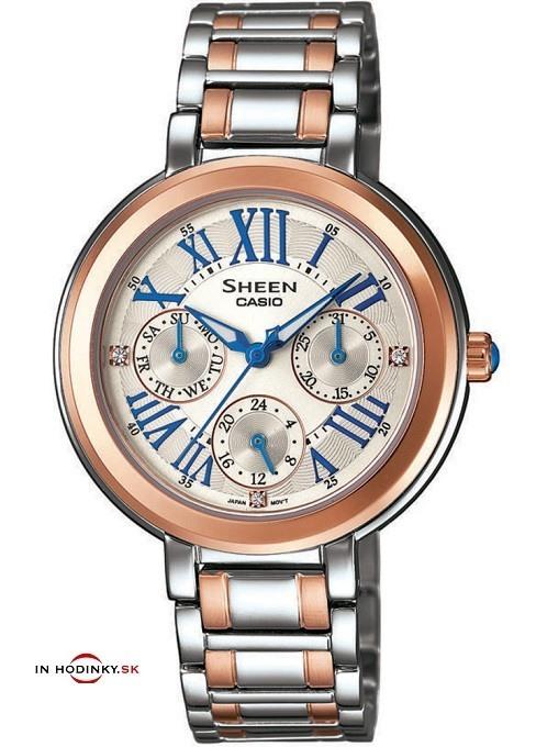 Dámske hodinky CASIO SHE 3034SG-7A SHEEN + Darček na výber zväčšiť obrázok e3810a8c10