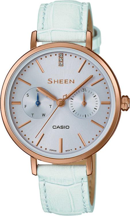 Dámske hodinky CASIO SHE 3054PGL-2A SHEEN Swarovski® Crystals + Darček  zväčšiť obrázok 247bd0dae2