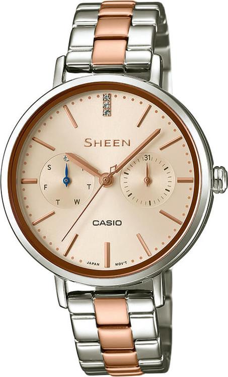Dámske hodinky CASIO SHE 3054SPG-4A SHEEN Swarovski® Crystals + Darček  zväčšiť obrázok 422b0ef394