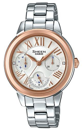 Dámske hodinky CASIO SHE 3059SG-7A SHEEN Swarovski® Crystals zväčšiť obrázok 49da1cf056