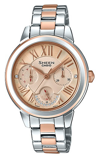 Dámske hodinky CASIO SHE 3059SPG-9A SHEEN Swarovski® Crystals zväčšiť  obrázok e59fc1a4f20