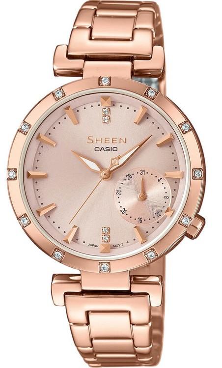 Dámske hodinky CASIO SHE 4051PG-4A SHEEN Swarovski® Crystals zväčšiť obrázok d58fdf759f