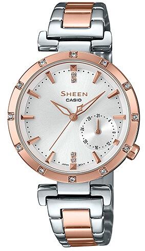 Dámske hodinky CASIO SHE 4051SPG-7A SHEEN Swarovski® Crystals zväčšiť  obrázok 9b2b74b6c5