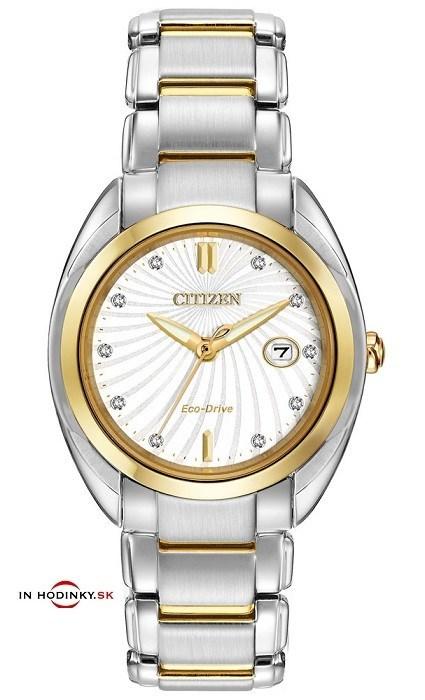 eeb850652 Dámske hodinky CITIZEN EM0314-51A Eco-Drive Ladies' 10-Diamond + Darček  zväčšiť obrázok. Doprava zdarma