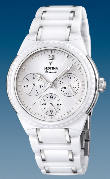 Dámske hodinky Festina Ceramic 16699 1 s multifunkčným dátumom + Darček v  hodnote 30 EUR 79af7a9477