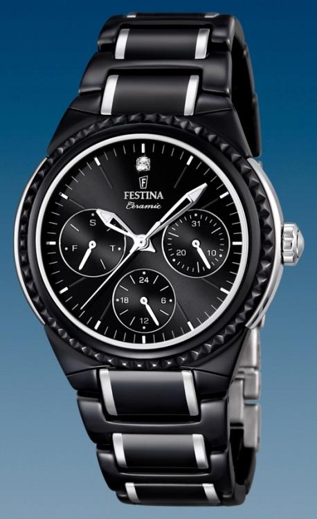 c4bacecfc Dámske hodinky Festina Ceramic 16699/4 s multifunkčným dátumom + Darček v hodnote  30 EUR