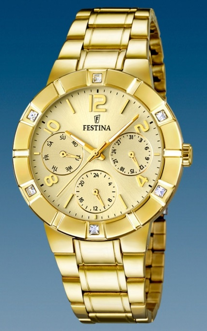 Dámske módne hodinky Festina 16708/2 Mademoiselle s multifunkčným dátumom + darček na výber