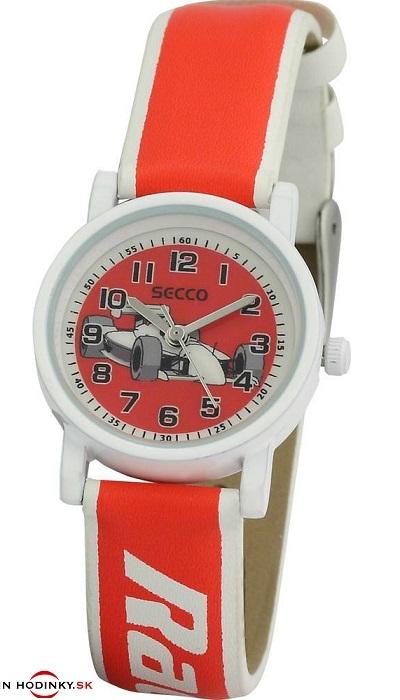 abe4cc047 SECCO S K126-6 Racing - detské / chlapčenské hodinky