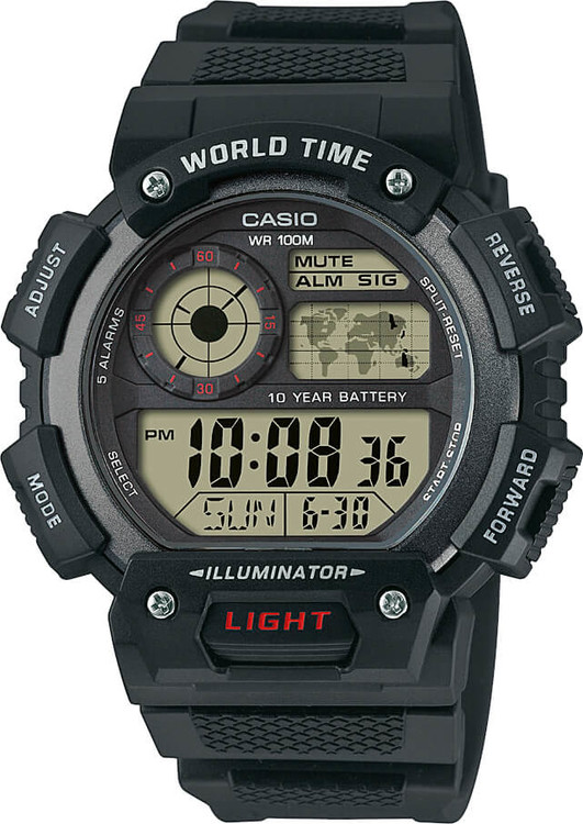 Hodinky CASIO AE 1400WH-1A WORLD TIME 9cc6f631228
