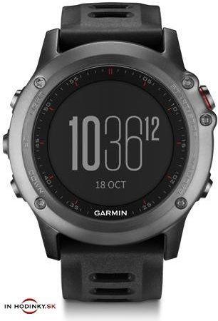 Multifunkčné hodinky GARMIN 010-01338-01 Fénix® 3 Gray