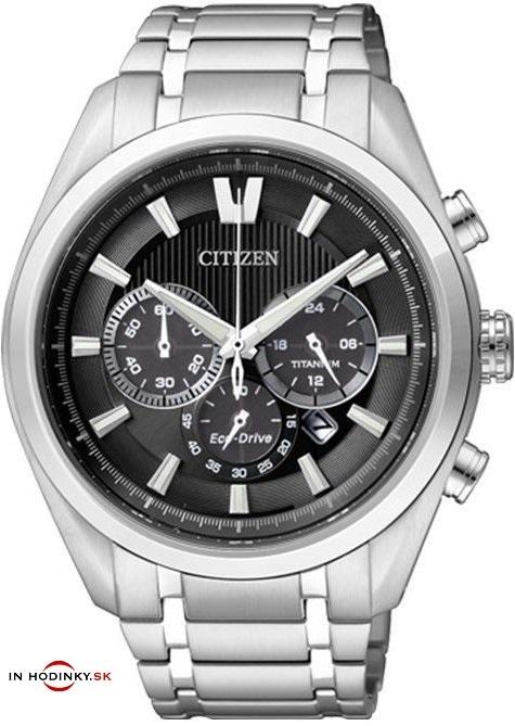 Pánske hodinky CITIZEN CA4010-58E Chrono Eco-Drive, Super Titanium + Darček na výber