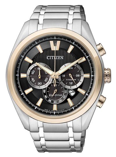 Pánske hodinky CITIZEN CA4014-57E Chrono Eco-Drive, Super Titanium + Darček na výber