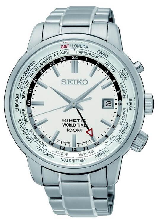 f22fb0487 Pánske hodinky SEIKO SUN067P1 Kinetic World Time + darček zväčšiť obrázok