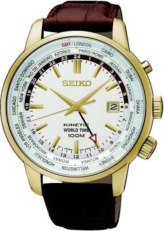 49bf886a9 Pánske hodinky SEIKO SUN070P1 Kinetic World Time + darček zväčšiť obrázok