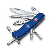 VICTORINOX 0.9093.2W lockblade knife SKIPPER, blue, wavy edge