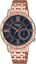 Dámske hodinky CASIO SHE-3046PG-8AUER SHEEN Swarovski® Crystals