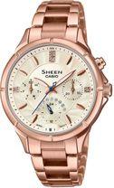 Dámske hodinky CASIO SHE-3047PG-9AUER SHEEN Swarovski® Crystals