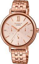 Dámske hodinky CASIO SHE 3064PG-4A SHEEN Swarovski® Crystals