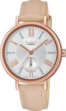 Dámske hodinky CASIO SHE 3066PGL-7B SHEEN Swarovski® Crystals