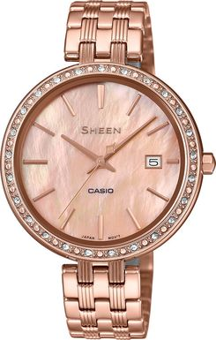 Dámske hodinky CASIO SHE-4052PG-4AUEF SHEEN Swarovski® Crystals