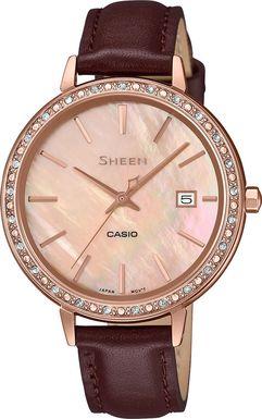 Dámske hodinky CASIO SHE 4052PGL-4A SHEEN Swarovski® Crystals