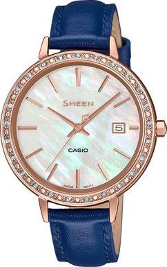 Dámske hodinky CASIO SHE 4052PGL-7A SHEEN Swarovski® Crystals