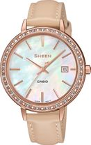 Dámske hodinky CASIO SHE 4052PGL-7B SHEEN Swarovski® Crystals