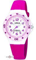 Dievčenské hodinky LORUS v ružovom prevedení s osvetlením ciferníka.  Vodotesnosť WR 100 m. 84f14689649