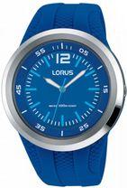 167aa75e266d5 Detské modré hodinky LORUS RRX31EX9 so športovým dizajnom majú modrý  kaučukový remienok a plastové púzdro v striebornej farbe. Ciferník hodiniek  je modrej ...