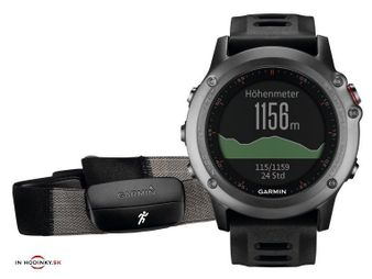 Multifunkčné hodinky GARMIN 010-01338-11 Fénix® 3 Gray Performer Bundle