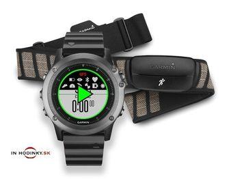 Multifunkčné hodinky GARMIN 010-01338-26 Fénix® 3 Sapphire Performer Bundle