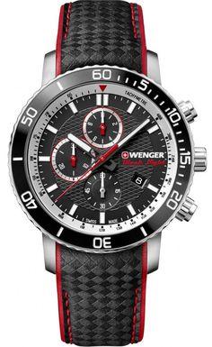 Pánske hodinky WENGER 01.1843.105 Roadster Black Night
