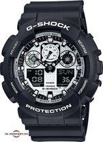 Športové hodinky CASIO GA 100BW-1A G-Shock + darček