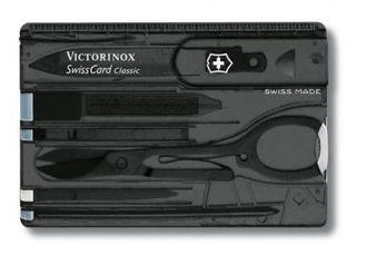 VICTORINOX 0.7133.T3 SwissCard Onyx translucent