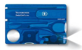 VICTORINOX 0.7322.T2 SwissCard Lite, blue translucent, white LED